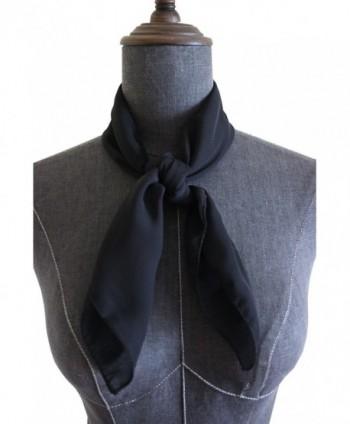 Chiffon Square Scarf Blend Neckerchief - Black - CP12O7PI3HD
