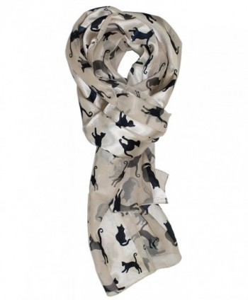 Ted and Jack - Stylish Feline Silhouette Silk Feel Cat - Ivory - CM122768P7L