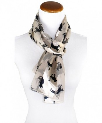 Ted Jack Stylish Feline Silhouette in Fashion Scarves