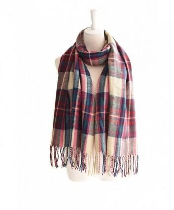 POSESHE Stylish Warm Blanket Scarf Gorgeous Wrap Shawl - 21 Pink - CZ186TYNOHT