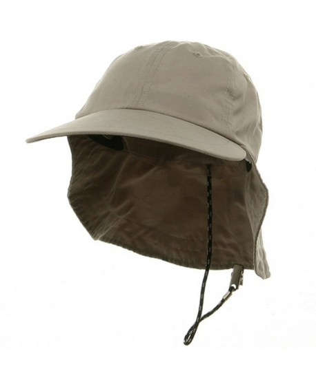 Microfiber Cap with Flap-Khaki - CS11174WXZF