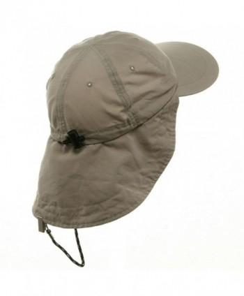 MG Microfiber Cap with Flap Khaki in Men's Sun Hats