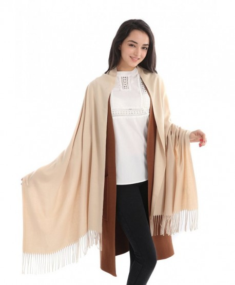 L&FY Fashion Scarves Cold Weather Neck Scarf Wrap Imitation Cashmere Scarf Gift For Mother Wife - Khaki - C2188NC94DK