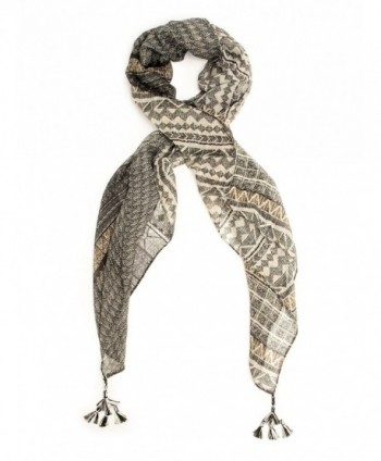 Bohomonde Square Scarf Tribal Tassel