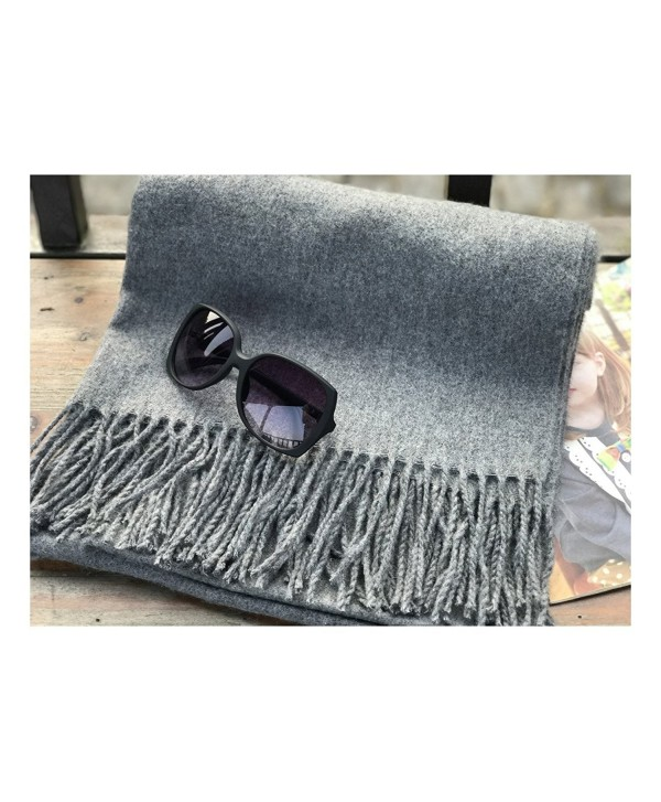 Youxuan Warm Scarf Stylish Tassels Wool Shawl Soft and Light Unisex Wrap - Gray - C6187IWU5SL