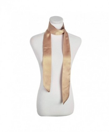 IvyFlair Skinny Scarf Choker Camel in Fashion Scarves