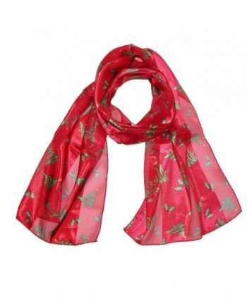 CTM Womens Christmas Holiday Scarf