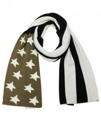 Wrapables Vintage Old Glory American Flag Scarf - Black/brown - CR11RX4EG67