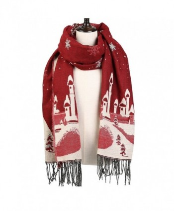 Christmas Reversible Oversized Thickened Pashmina