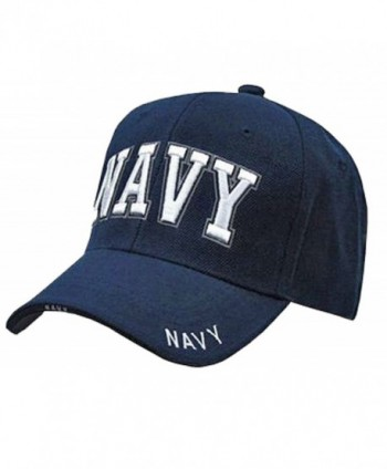 Buy Caps and Hats U.S. Navy Veteran Baseball Cap Vet Military Mens One Size - Navy Blue NAVY Hat 3D RD - CQ120PF1Q2R
