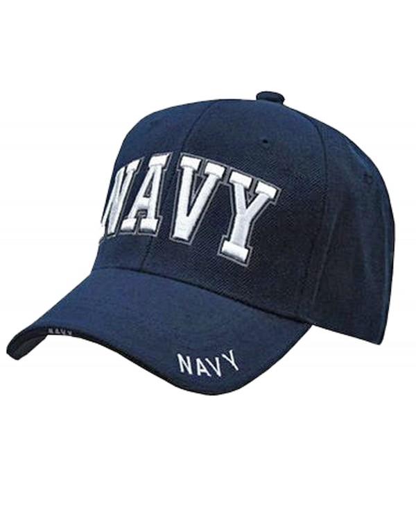 Buy Caps and Hats U.S. Navy Veteran Baseball Cap Vet Military Mens One Size - Navy Blue NAVY Hat 3D RD - CQ120PF1Q2R