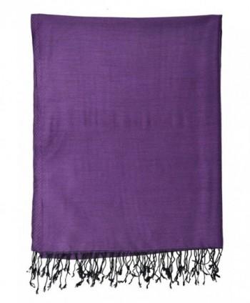 Pashmina Double Sided Shawl Purple