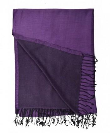 Pashmina Double Sided Shawl Purple in Wraps & Pashminas