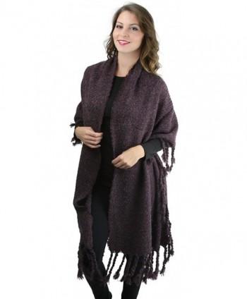 ToBeInStyle Womens Oversized Tasseled Blanket