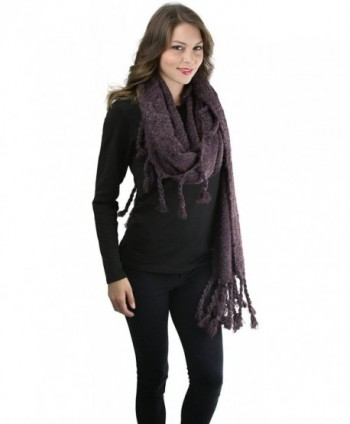 ToBeInStyle Womens Oversized Tasseled Blanket in Cold Weather Scarves & Wraps