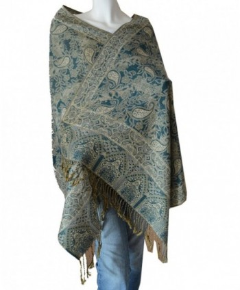 SCARF_TRADINGINC Women's Triplelayer Pashmina Shawl Wrap - Bj - CX115RKHGT3