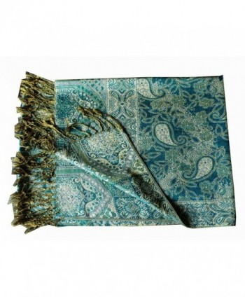 Jacquard Triplelayer Pashmina Shawl Stole in Fashion Scarves