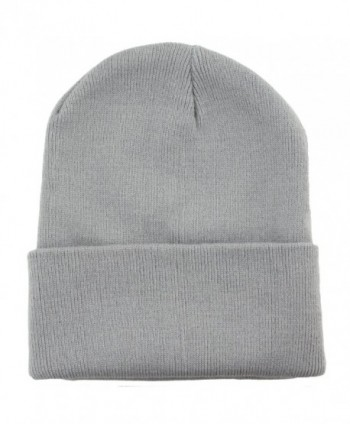 Hipster Knit Toque Beanie Skull Cap - Cloud Grey - C5128DL4WXF