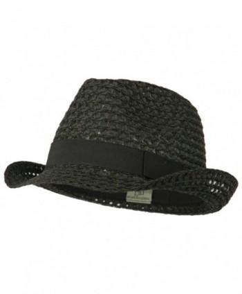 Australian Design Vented Fedora Hat - Black - C211VSYG2Y7