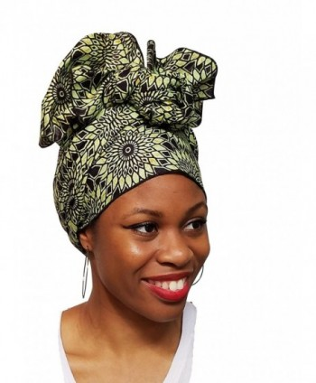 Light Green African Ankara Multicolor