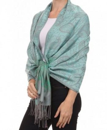 Sakkas Tracy colorful allover print Pashmina/ Shawl/ Wrap/ Stole with fringe - 2-pistachio - C9124TLYDNR
