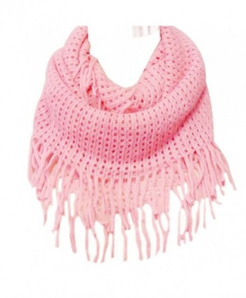 Wrapables Crochet Infinity Tassel Cotton in Cold Weather Scarves & Wraps