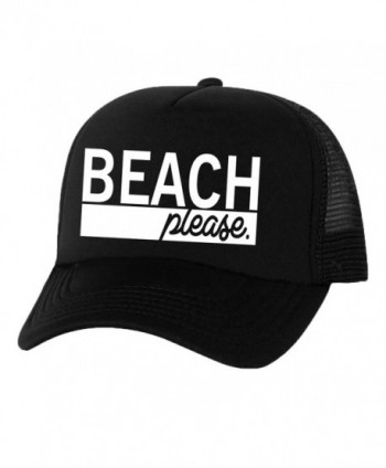 Beach Please Truckers Mesh snapback hat - Black - CC11N8G81FB