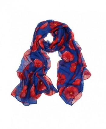 Willsa Fashion Poppy Flower Ladies in Fashion Scarves