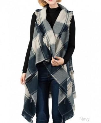 ScarvesMe Womens Vintage Checker Cardigan