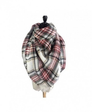 Women's Cozy Tartan Scarf Wrap Shawl Neck Stole Warm Plaid Checked Pashmina - 4 - CH124WOLC4T