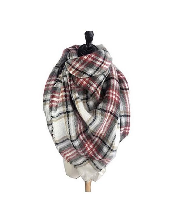 Women's Cozy Tartan Scarf Wrap Shawl Neck Stole Warm Plaid Checked Pashmina - 4 - CH124WOLC4T