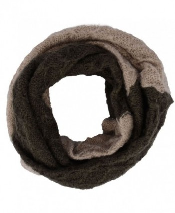 Simplicity Women's Fashion Knitted infinity Loop Scarf - Green Coffee - C812MY2A2F9