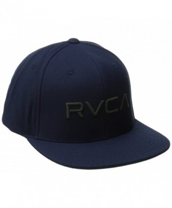 RVCA Men's Twill Snapback Hat - Dark Navy - CI12CGDN09N