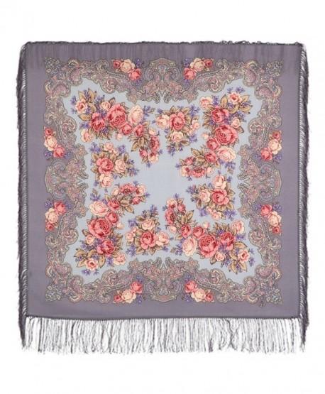 Pavlovo Posad Russian Shawl Pashmina Scarf Wrap Grey 100% Wool 35x35'' - CO12OBEO75L