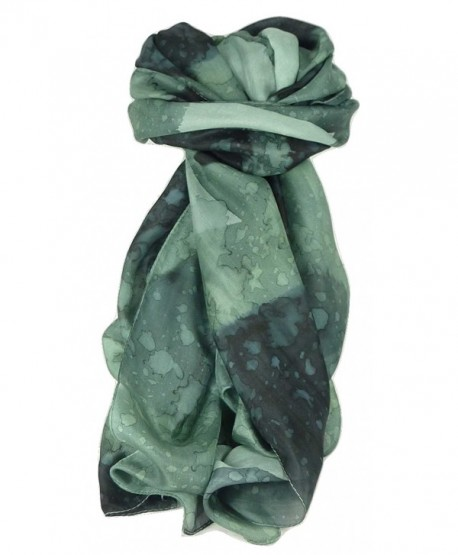 Mulberry Silk Hand Painted Long Scarf Classic Charcoal by Pashmina & Silk - CK11NFGNUS7