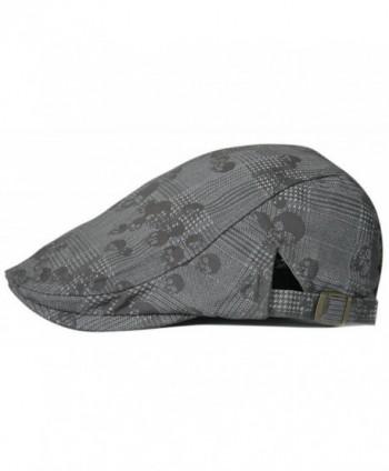 Gumstyle FASHION Men Womens Duckbill Ivy Cap Golf Driving Flat Cabbie Newsboy Beret Hat Skull - Grey - CI12F8FXNRP