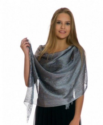 Petal Rose Shawls Evening Dresses - Silver - CF128ZLX2QV