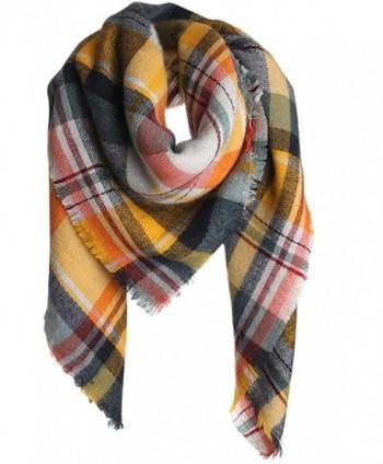 VamJump Winter Tartan Blanket Scarves