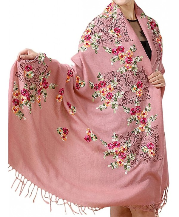 TLIH Womens Delicate Embroidered Extra Large - Pink - C812GDWJX5N