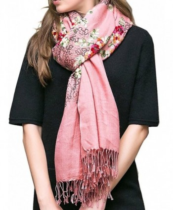 TLIH Womens Delicate Embroidered Extra Large in Wraps & Pashminas