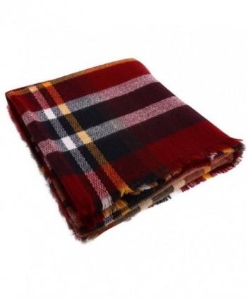 Phyxin Women Tassels Tartan Blanket