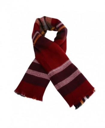 Phyxin Women Tassels Tartan Blanket in Cold Weather Scarves & Wraps