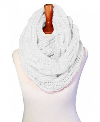 Basico Women Winter Chunky Knitted Infinity Scarf Warm Circle Loop Various Colors - CK187EM4WGL