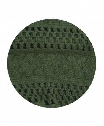 Abstract pattern knitted scarf Olive