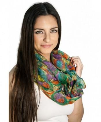 Women's Fashion Style Multi-color All Season Infitiny Scarfs - Seven - C411SN3D1L3