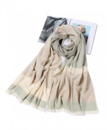 Fashion Scarves Long Cashmere Wool Scarf Winter Shawl Wrap Tartan Scarf for Women and Men With Gift Box - Black - CD187CNH7N7