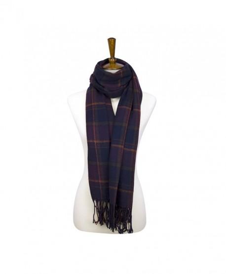 Rad Pixie Cashmere-like Acrylic Pashmina Large Winter Scarf Shawl Wrap - Plaid-purple - C11879ZHDWS