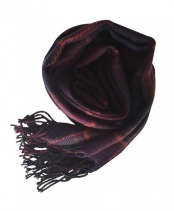 Rad Pixie Cashmere like Pashmina Plaid Purple in Fashion Scarves