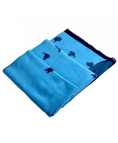 Yazer Cashmere Super Soft Luxurious Scarf with Gift Envelope Bag - Blue - C912NUOUCC1