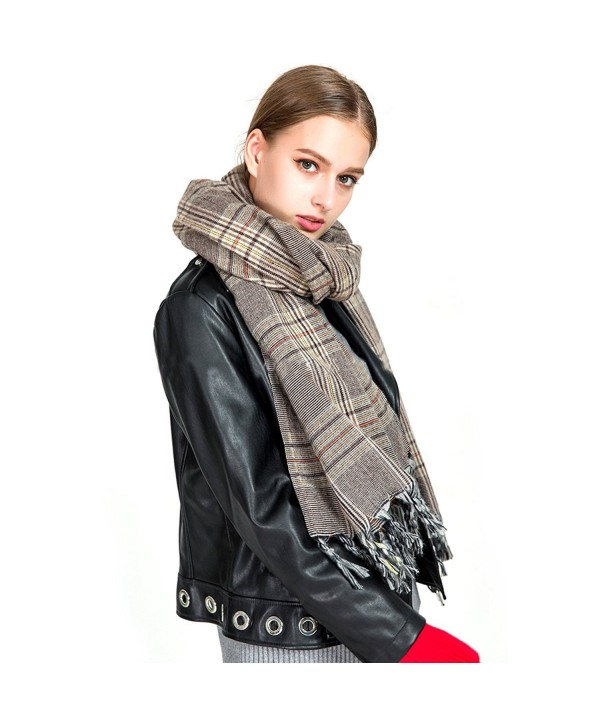 MeliMe Blanket Winter Scarves Oversize - Red And Blue Plaid - CL187N5T95H